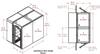 2-Unit Tunnel Low Profile Single Door Air Shower -- CAP701LP-ST2-55144