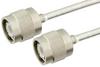 TNC Male to TNC Male Semi-Flexible Precision Cable 6 Inch Length Using PE-SR402FL Coax, LF Solder, RoHS -- PE39479-6 -Image