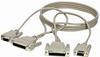 10ft. RS232 Serial Cable DB25 F/DB9 F to DB25 F/DB9 F -- BC018002 - Image