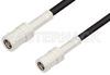 SMB Plug to SMB Plug Cable 12 Inch Length Using PE-B100 Coax -- PE34488-12 -Image