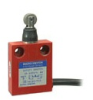 24CE Series, Miniature Enclosed Safety Limit Switch, 1NC Direct Opening, Slow Action, Roller Plunger, Parallel (Boot Seal), Side Exit Cable, 2 m, 100 mA to 10 A (Thermal), Silver Contacts -- 24CE31Y2A