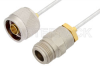 N Male to N Female Cable 60 Inch Length Using PE-SR405FL Coax, RoHS -- PE3965LF-60 -Image