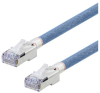 Category 5e Aerospace Ethernet Cable High-Temp SF/UTP FEP Blue RJ45, 125.0ft -- T5A00018-125F -Image