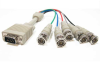 1ft HD15 VGA Male to 5 BNC Male Cable -- RB10-01 - Image