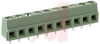 Block, Terminal; 13.5 A; 250 V; 5 mm; 26 to 16 AWG; 10; Screw; Solder; 4 kV; PA -- 70054383 - Image