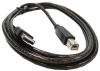 10ft A-Male to B-Male USB2.0 Cable Clear -- UB12-10-CLR - Image