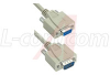 Reversible Hardware Molded Cable, DB9 Male/Female 2.5ft -- 70126232 - Image