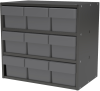 Cabinet, Modular Cabinet, 18x11x16, 9 Drawers -- AD1811C62GRY -Image