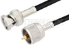 UHF Male to BNC Male Cable 24 Inch Length Using PE-C195 Coax -- PE38674-24 -Image