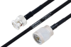 MIL-DTL-17 BNC Male to N Male Cable 48 Inch Length Using M17/84-RG223 Coax -- PE3M0030-48 -Image