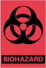 LABELS - Biohazard Warning, Pressure Sensitive -- 1157787