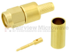 SMA Male (Plug) Connector For LMR-200 Cable, Crimp/Solder, Gold Plated Brass Body, Length 0.957 In