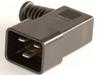 European IEC 60320/C20 Right Angle Plug Connector -- UC-032RI