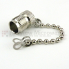 TNC Female Open Circuit Connector Cap With 2.76 Inch Chain -- SC2069 -Image