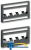 Panduit® Mini-Com Ultimate ID Patch Panel Faceplates.. -- UICPP2L4BL