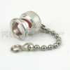BNC Male Open Circuit Connector Cap With 2.25 Inch Chain -- M39012/25-0006 -Image