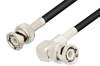 BNC Male to BNC Male Right Angle Cable 24 Inch Length Using RG58 Coax -- PE3020-24 -Image