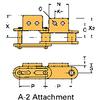 Double Pitch Conveyor Lambda Chain Attachment -- C2040-LAMBDA-A-2 - Image