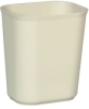 Rubbermaid® Fire Resistant Wastebasket - 14 Qt., Beige -- 2541BE