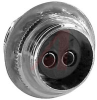 connector,circular microphone,female panel receptacle,phenolic dielect,2 contact -- 70144709