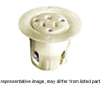 Flanged Female Outlet White 15A 250V 2P -- 78358517600-1