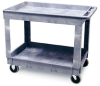 CART - Utility, Plastic, 400 Lb. Capacity, Rubbermaid, 2 Shelf, 400 lb. capacity, Cart, 24 x 36 x 32 1⁄4 -- 1161087 - Image