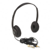 Multimedia Stereo Headphones w/Volume Control, Black -- APLSL1006