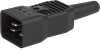 IEC Plug I, Cord Connector (Rewireable), Straight -- 4796 -Image