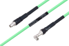 Temperature Conditioned SMA Male to SMA Male Right Angle Low Loss Cable 100 cm Length Using PE-P300LL Coax -- PE3M0226-100CM -Image