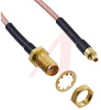 connector assembly,rf coaxial,mmcx str plug to sma str blkhd jack,rg316,12 inch -- 70090318
