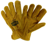 West Chester IronCat Tan Large Cowhide Leather Welding Glove - Keystone Thumb - 662909-404664 -- 662909-404664