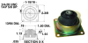 Cup Mountings (inch) -- A10Z40-1240BB -Image