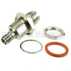 Bulkhead SMA Female (Jack) to TNC Female (Jack) Adapter, Passivated Stainless Steel Body, High Temp, 1.35 VSWR -- SM4743 - Image