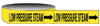 Economy Pipe Markers-To-Go (Black on Yellow; LOW PRESSURE STEAM; 1