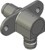 Honeywell Harsh Application Aerospace Proximity Sensor, HAPS Series, Right angle cylindrical flanged form factor, 2,50 mm/3,50 range, 3-wire current sinking output near/fault/far, EN2997Y10803MN termi -- 1PRFD3ACNN-000 -- View Larger Image