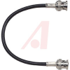 Cable Assy; 12 in.; RG58C/U; Non Booted; Black Jacket; UL Listed -- 70198391 - Image