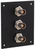 3 JACK PANEL INSERT BULKHEAD REAR MOUNT TRB 2 LUG NON ISOLATED -- REF00163 -Image