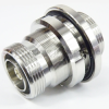 7/16 DIN Female (Jack) to 7/16 DIN Female (Jack) Bulkhead Adapter, Tri-Metal Plated Brass Body, 1.15 VSWR -- SM3387 - Image