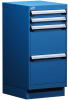 """L Cabinet with Partitions, with Base (18""""W x 21""""D x 38""""H) -- L3ABD-3407C -- View Larger Image"""
