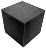 Foam Cube,Polyether,Charcoal,6 In Sq -- 5GCJ4