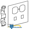 Legrand - Wiremold S4000® Series Duplex Receptacle and.. -- S4046DRJ