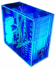 Logisys Pre-Assembled Blue UV Reactive Acrylic Case -- 16166