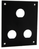 Universal Rack Mount Sub-Panel with 3 0.630