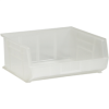 "14 3/4"" x 16 1/2"" x 7 Clear - Plastic Stack & Hang Bin Boxes -- BINP1516CL -- View Larger Image"