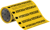 Brady B-946 Black on Yellow Vinyl Self-Adhesive Pipe Marker - 8 in Height - 30 ft Length - Printed Msg = HYDROGEN PEROXIDE with Left Arrow - 41558 -- 754476-41558