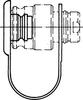 ISO 16028 Flat Face Plastic Dust Plug -Image