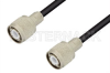 HN Male to HN Male Cable 12 Inch Length Using 75 Ohm RG59 Coax -- PE34436-12 -Image