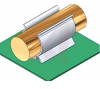Component clip, black PVC, screw mt, .75 holding dia -- 70208825 - Image