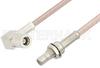 SMB Plug Right Angle to SMB Jack Bulkhead Cable 72 Inch Length Using RG316 Coax -- PE33675-72 -Image