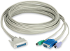 KVM CPU CABLE CAT5 EXTENDER -DDC SUPPORT 10FT -- EHN230D-0010 - Image